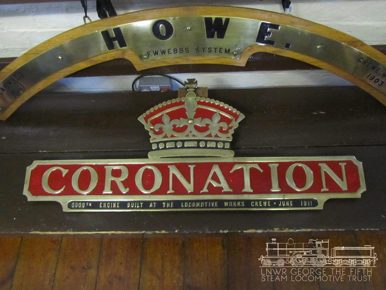 Coronation Nameplate - Kidderminster August 3rd